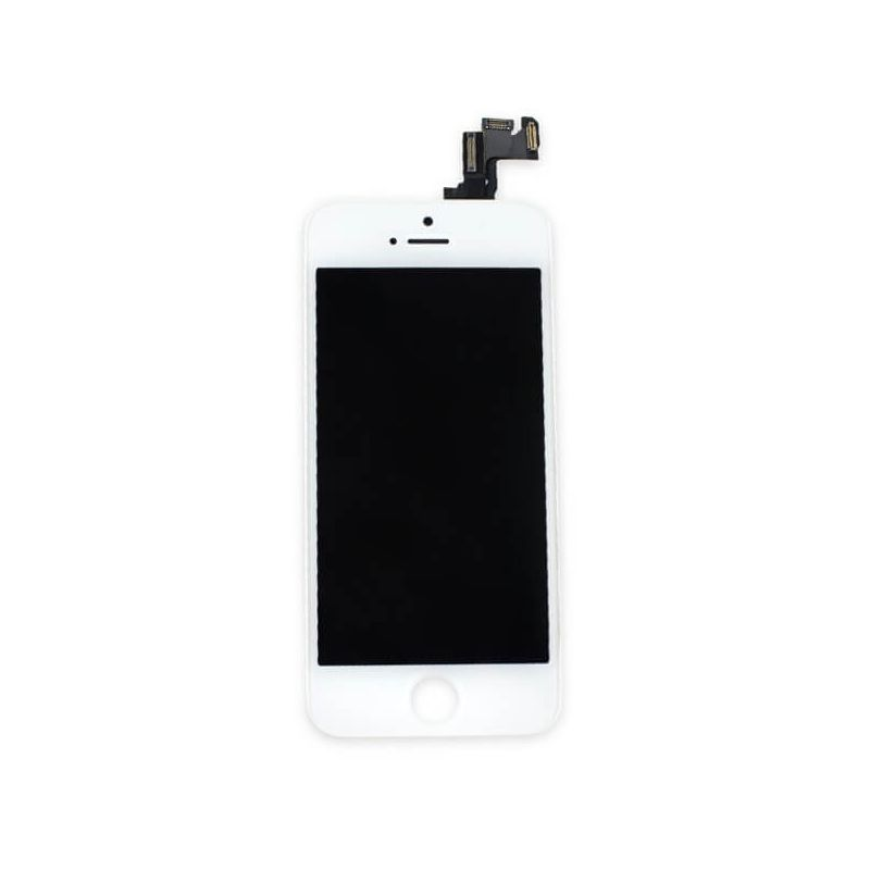 1st Quality Glass digitizer complete assembled, LCD Retina Screen and Full Frame for iPhone SE White