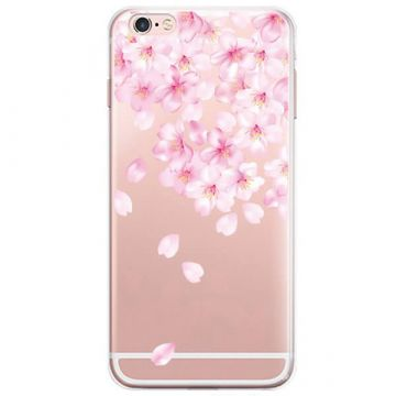 Coque TPU Fleurs blanches iPhone 7 / iPhone 8
