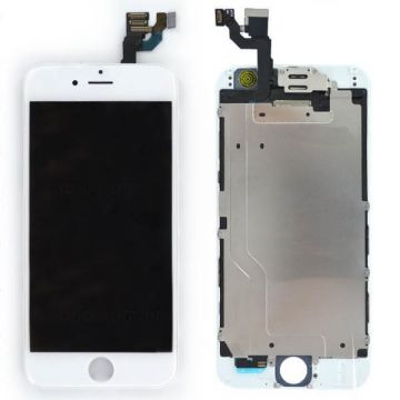 Complete 2nd quality Glass digitizer, LCD Retina Screen for iPhone 6S white