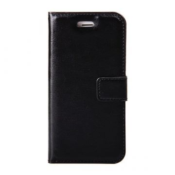 Etui portefeuille simili cuir noir iPhone 7 / iPhone 8