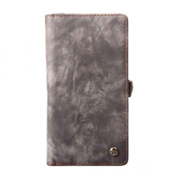 Suede Look Portfolio Stand Case iPhone 7