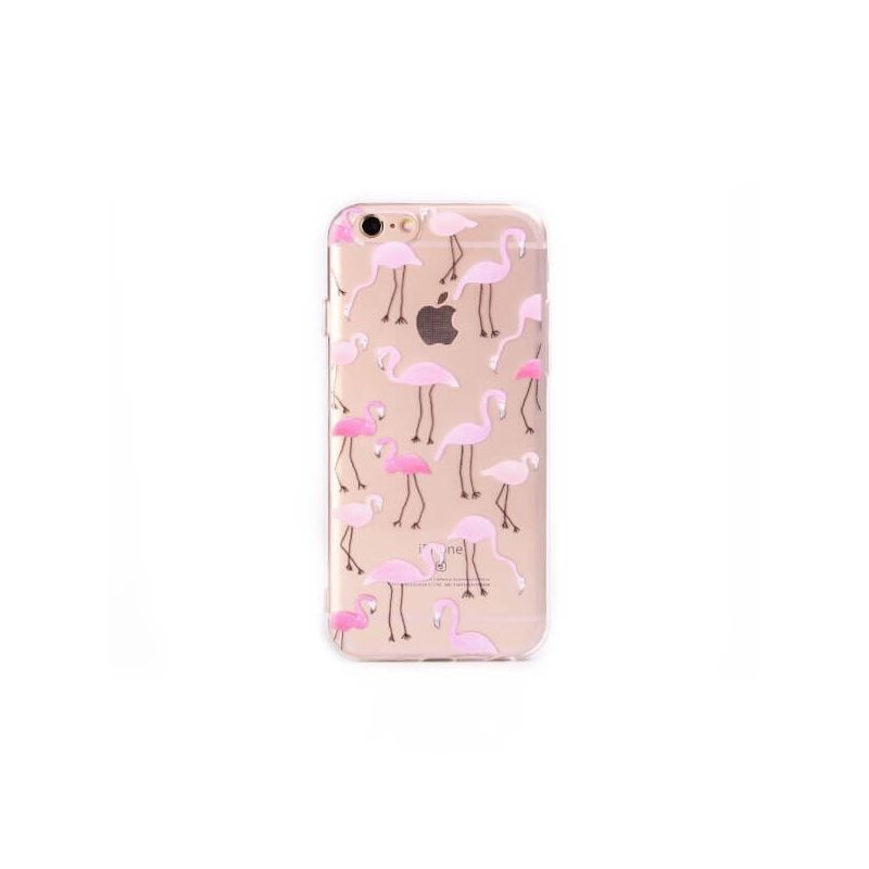 iphone 8 coque flamant rose