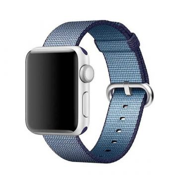 Bracelet Nylon Tressé Bleu nuit Apple Watch 38mm