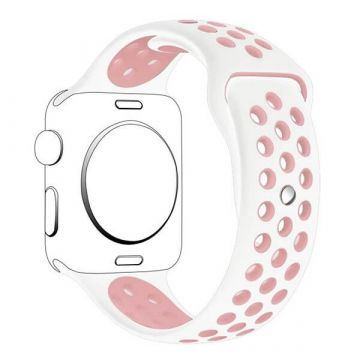 Bracelet Apple Watch silicone 38mm Blanc