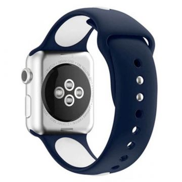 Siliconen bandje Sport Band Apple Watch 38mm Blauw