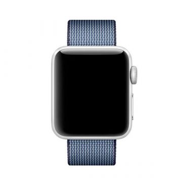 Midnight Blue Woven Nylon Band Apple Watch 38mm
