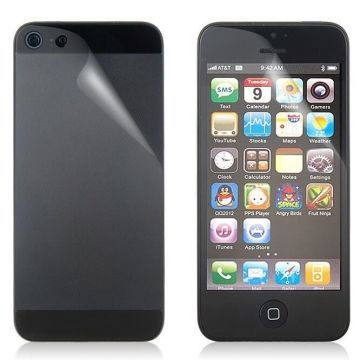 2X Screen Protectors iPhone 5/5S/SE Clear Front & Rear Anti-Glare