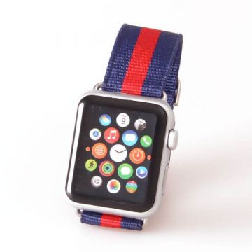 Woven Nylon Band Lined design Apple Watch 38mm
