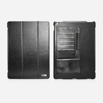 Leather Case Business zwart multi-cards for iPad Pro Icarer
