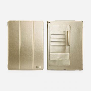 "Leather Case Business multi-cards gold for iPad Pro Icarer 12,9"" (2015)"