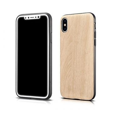 Case TPU imitation wood for iPhone X