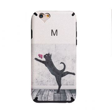 TPU Case Cat and Flower iPhone 6 / iPhone 6S