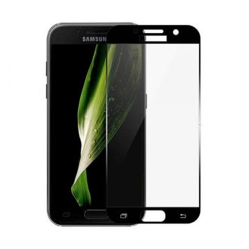 Tempered glass Screen Protector Samsung A3 (2017) Front clear-Black