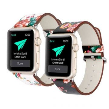 3 in 1 lederen bandje Hoco Birkin Style Apple Watch 38mm