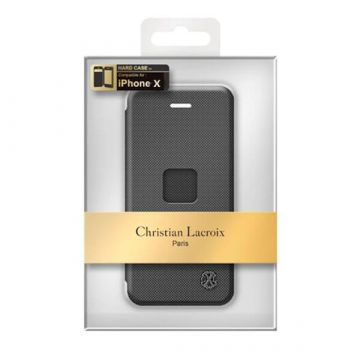 Black Port Folio Case iPhone X Christian Lacroix