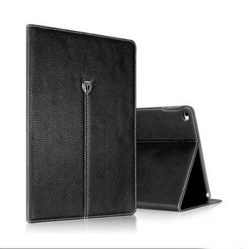 Black leather case iPad 2017