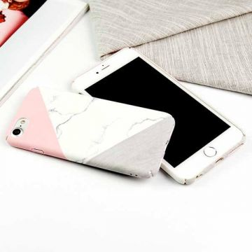 Hard case Soft Touch geometric marble iPhone 7 / iPhone 8