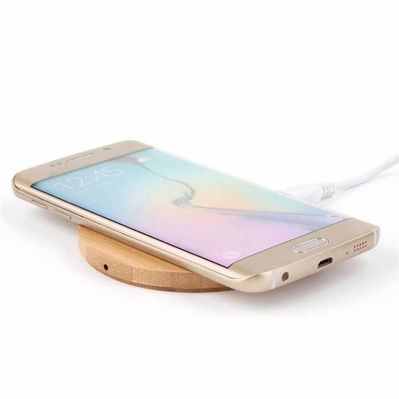 Wireless Charger in bamboe