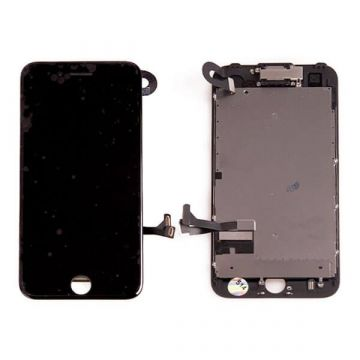 Complete 2nd quality Glass digitizer, LCD Retina Screen for iPhone 7 black