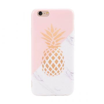 Marmer / ananas hoesje iPhone 7 Plus / iPhone 8 Plus TPU