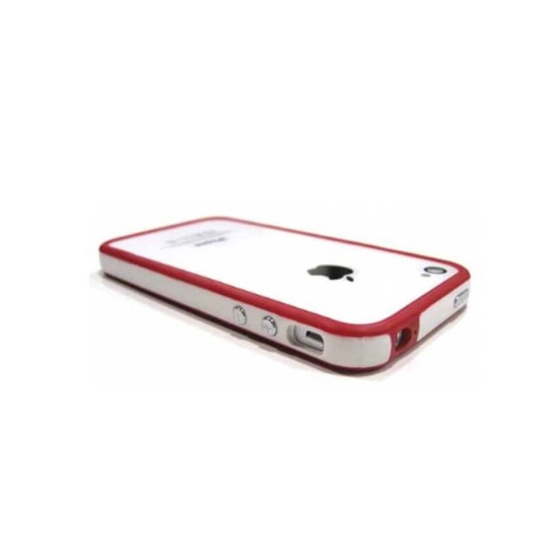 Bumper TPU for iPhone 4 & 4S White & Red
