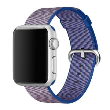 Royal Blue Woven Nylon Band Apple Watch 40mm & 38mm