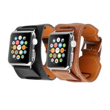 Fashion Band 2 en 1 Imitation Leather pour Apple Watch 40mm & 38mm