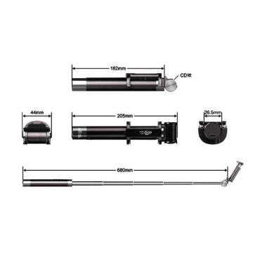 Extendable Handheld Wireless Monopod and video 75 cm