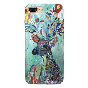 Hard case Soft Touch Art Serie Deer iPhone 8 Plus / 7 Plus