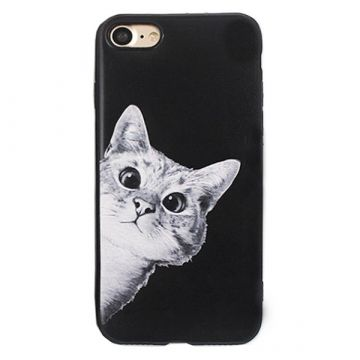 Hard case Soft Touch Curious Cat iPhone 8 / iPhone 7