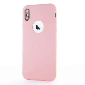 Coque Silicone iPhone X - Rose Pâle