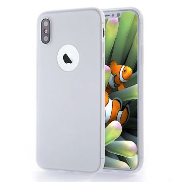 Silicone Case for iPhone X - White transparent