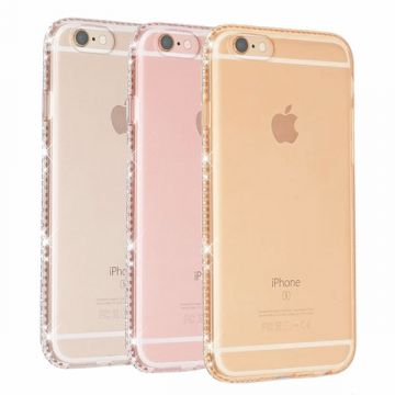 Transparante TPU shell met iPhone 8 Plus / 7 Plus strass randen