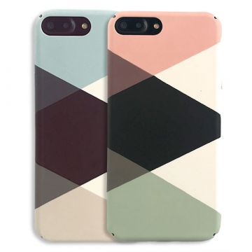 iPhone 8 Plus / iPhone 7 Plus Geometric Soft Touch Hard Case