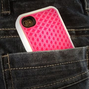 Cover van merk Vans wit en roze iphone 4 en 4s