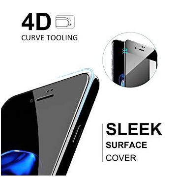 Film en verre trempé 4D iPhone 8 / 7 - Protection Premium Noir