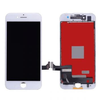Complete 2nd quality Glass digitizer, LCD Retina Screen for iPhone 7 White