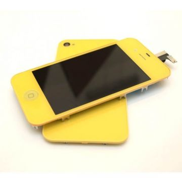 Complete Kit: Glass Digitizer & LCD Screen & Frame & Backcover First Quality iPhone 4S yellow
