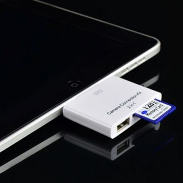2 in 1 camera connection kit + card reader for iPad