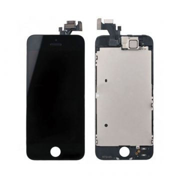 2nd Quality complete assembled Glass digitizer, LCD Retina Screen and Full Frame for iPhone 5 Black