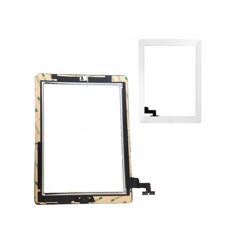 Touch Screen Glass/Digitizer Assembled For iPad 2 White