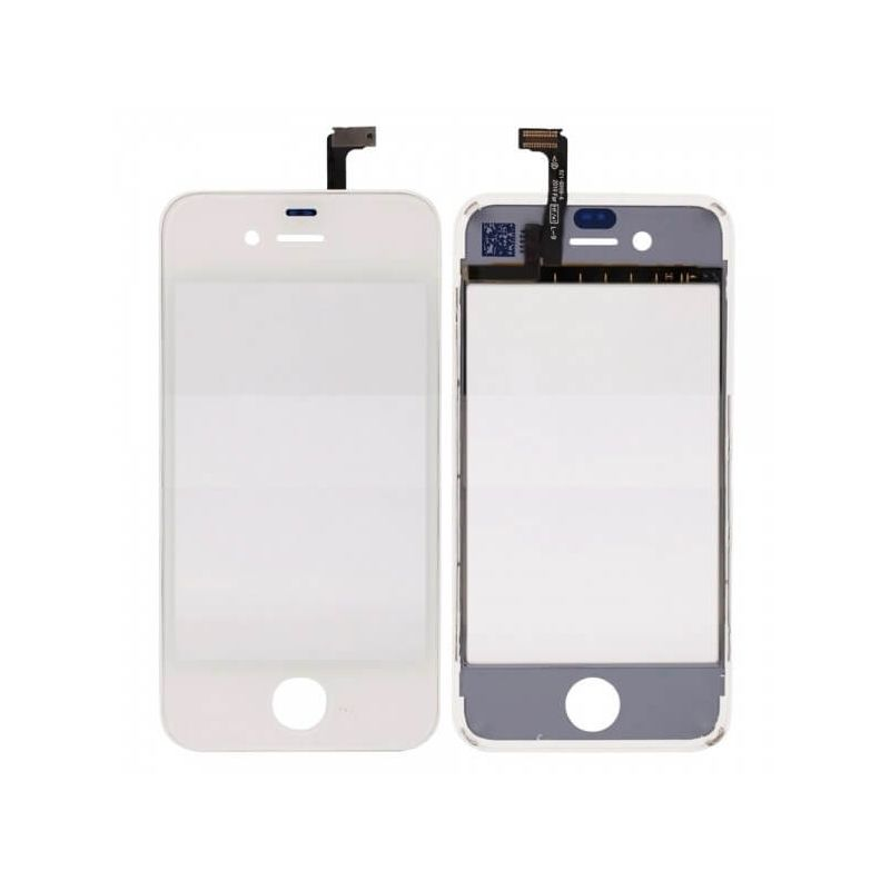 Touch screen digitizer with frame for iPhone 4 white