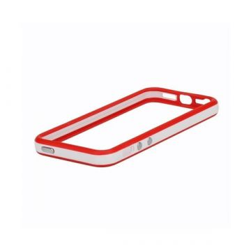 Bumper – Witte en zwarte rand in TPU IPhone 4 & 4S