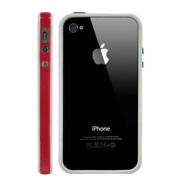Bumper TPU for iPhone 4 & 4S Red and White