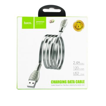 Cable lightning tressé 1,2m HOCO