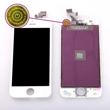 1st Quality Glass digitizer & LCD Retina Screen & Full Frame for iPhone 5 Black  Colour-white