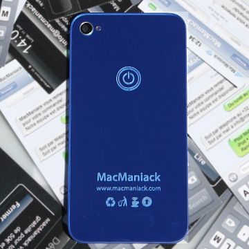 MacManiack Replacement back cover iPhone 4S Mirror Blue