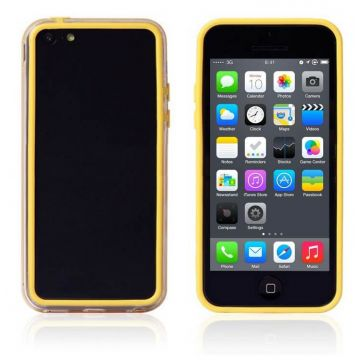 Bumper gele en transparante rand in TPU IPhone 5C