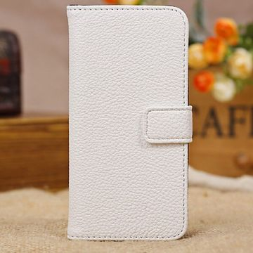 Etui portefeuille stand blanc iPhone 5C