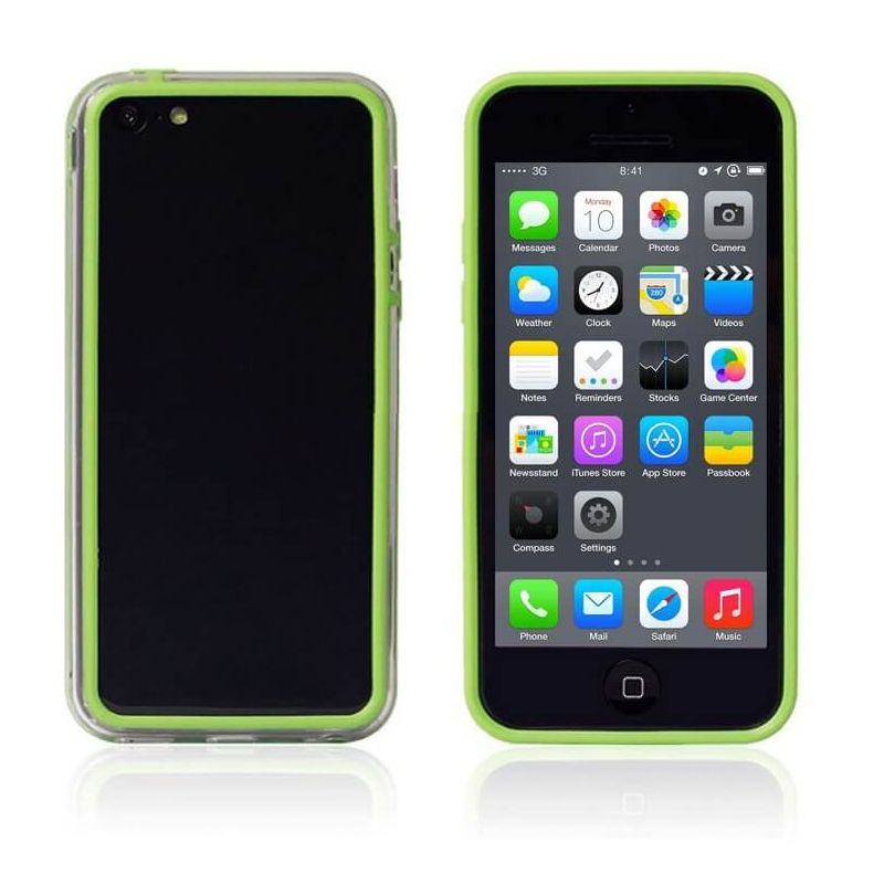 TPU Bumper Green and Transparent for iPhone 5C